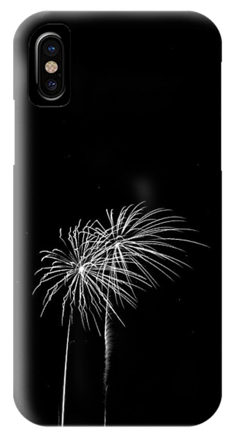 Addison Kaboom IPhone X Case featuring the photograph Firework Palm Trees by Darryl Dalton
