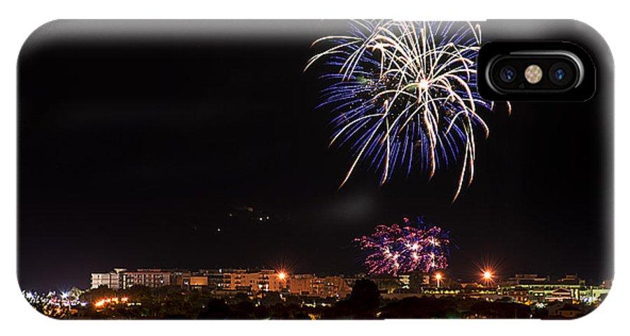 Albenga IPhone X Case featuring the photograph Fireworks Albenga 2013 3765 - Ph Enrico Pelos by Enrico Pelos