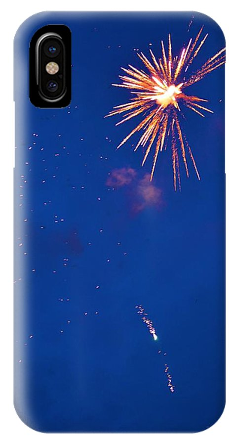 Fireworks IPhone X Case featuring the photograph Fireworks by Tamara Michael