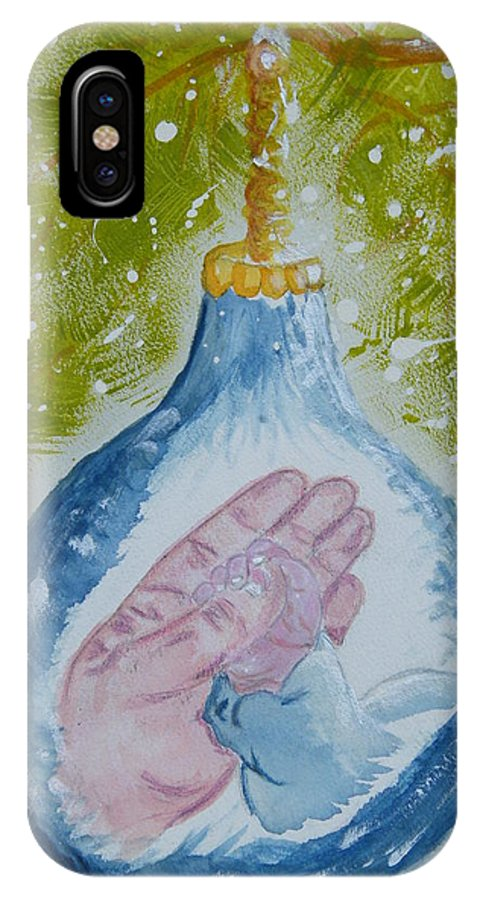 Christmas IPhone Case featuring the painting First Christmas II by Margaret G Calenda