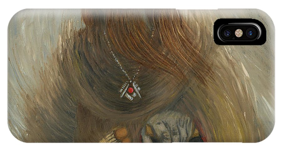 Freemason IPhone X Case featuring the painting First Freemason by Sherryl Lapping