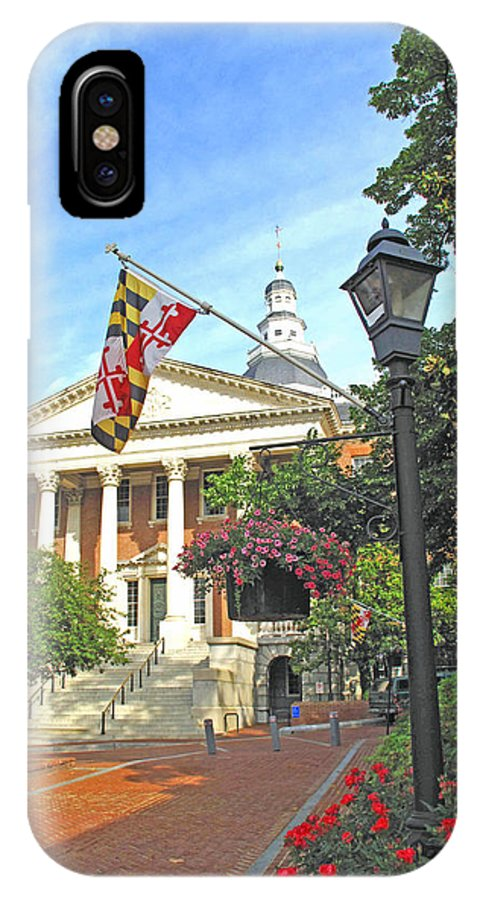 Annapolis IPhone X Case featuring the photograph First In The Nation by Barbara McDevitt