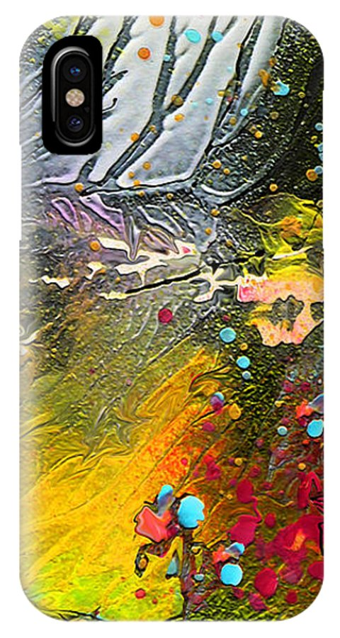 Miki IPhone X Case featuring the painting First Light by Miki De Goodaboom