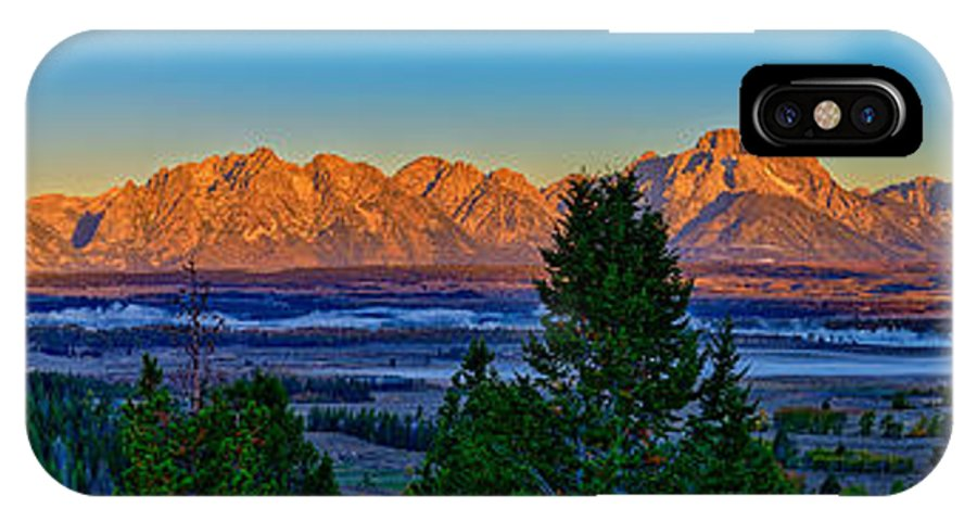 Tetons IPhone X Case featuring the photograph First Light On The Tetons by Greg Norrell