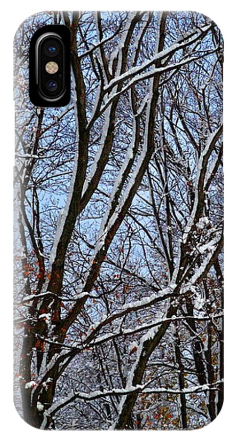 Snow IPhone X Case featuring the photograph First Snow 4 by April Patterson