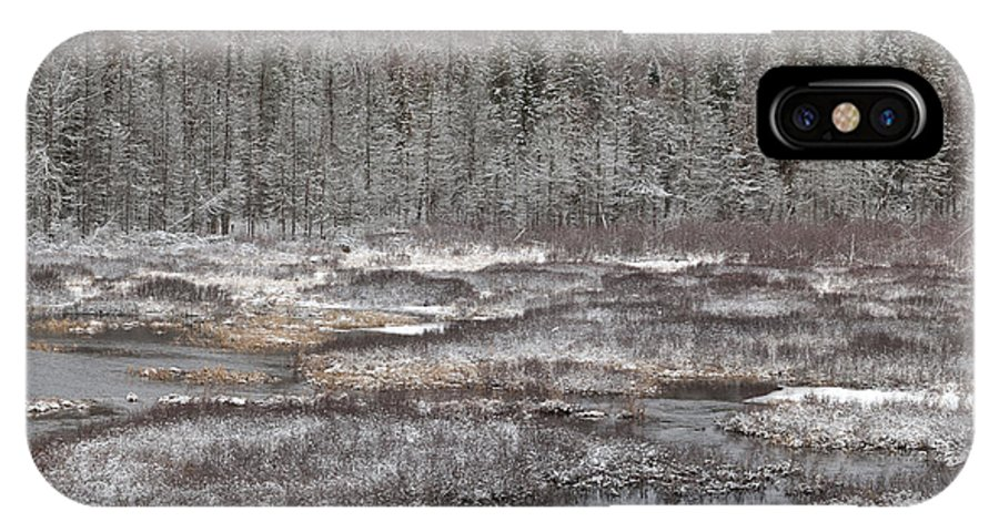 Algonquin IPhone X Case featuring the photograph First Snow-algonquin Provincial Park by Harry Cartner