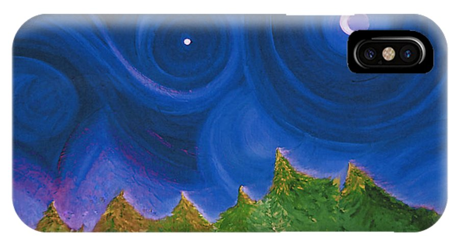 First Star IPhone X Case featuring the painting First Star Wish By Jrr by First Star Art
