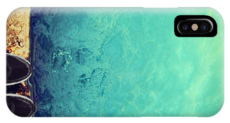 Water IPhone X Case featuring the photograph First Step by Dawn H Smith