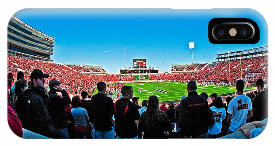 Fish-eye View Of The Jones Stadium IPhone X Case featuring the photograph Fish-eye View Of The Jones Stadium by Mae Wertz