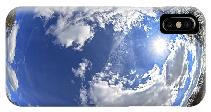 Background IPhone X Case featuring the photograph Fisheye Park by Jane Rix