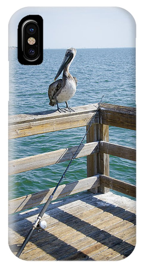 St. Petersburg IPhone X Case featuring the photograph Fishing by Anna Azmitia
