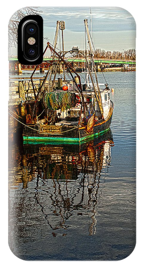 Fishing IPhone X / XS Case featuring the photograph Fishing Boat by Rick Mosher