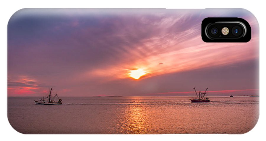 Fishing Boats IPhone X Case featuring the photograph Fishing Boats by Mary Almond