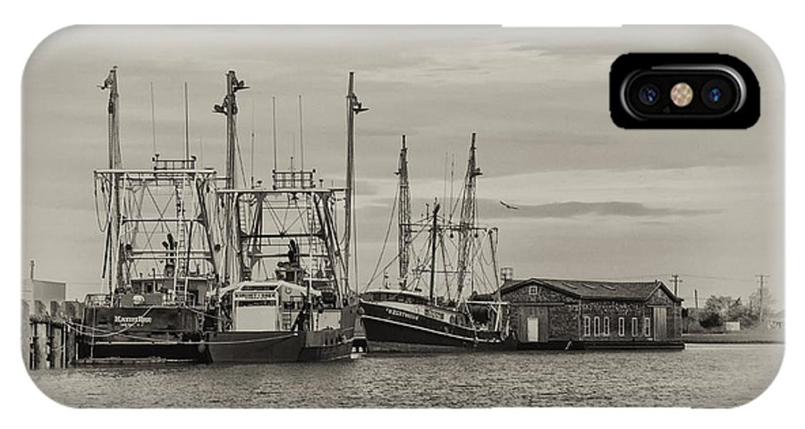 Fishing IPhone X / XS Case featuring the photograph Fishing Boats - Wildwood New Jersey by Bill Cannon