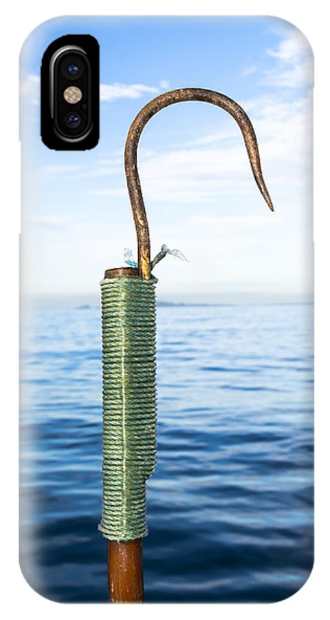 Gaff IPhone X Case featuring the photograph Fishing Gaff by Joe Belanger