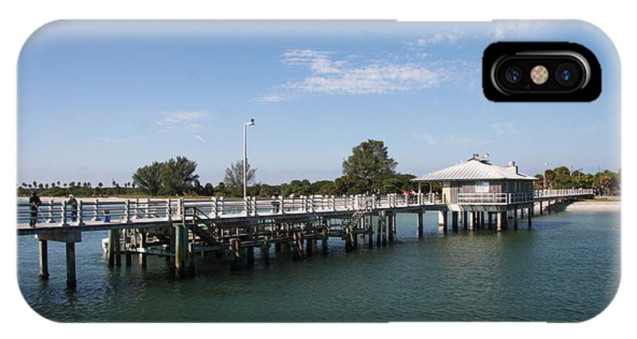 Pier IPhone X Case featuring the photograph Fishing Pier Fort De Soto by Christiane Schulze Art And Photography