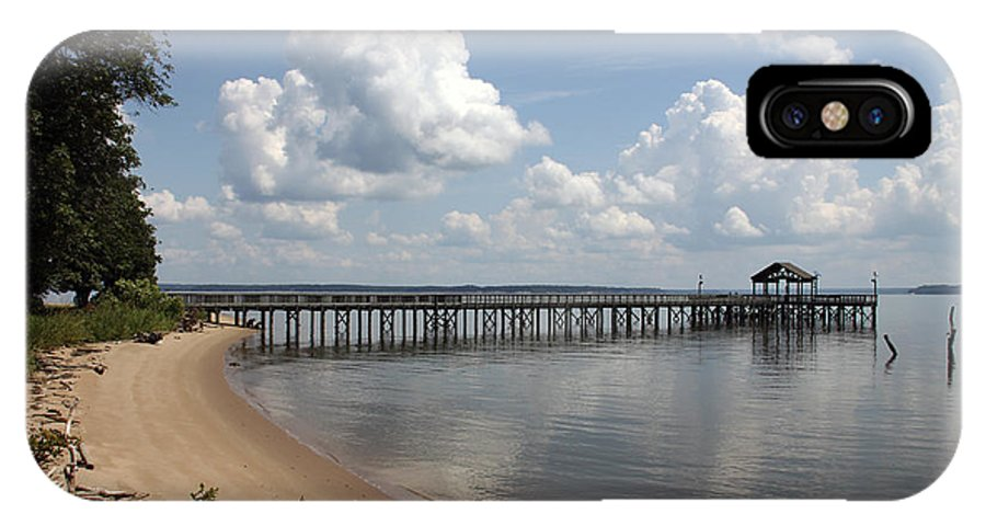 Water IPhone X Case featuring the photograph Fishing Pier by Rhonda Burger