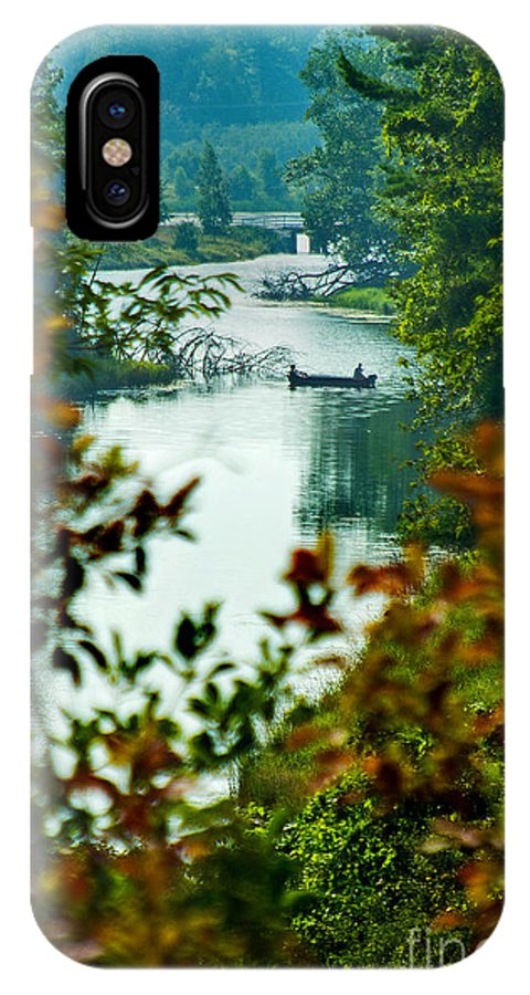 Lincoln Lake IPhone X Case featuring the photograph Fishing by Randall Cogle