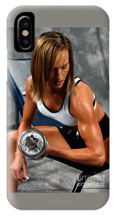 Model IPhone X Case featuring the photograph Fitness 28-2 by Gary Gingrich Galleries