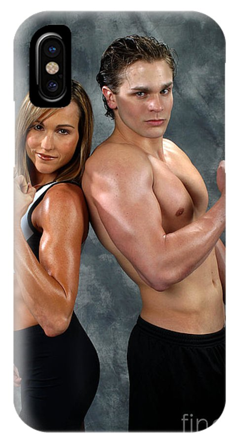 Model IPhone X Case featuring the photograph Fitness Couple 39 by Gary Gingrich Galleries