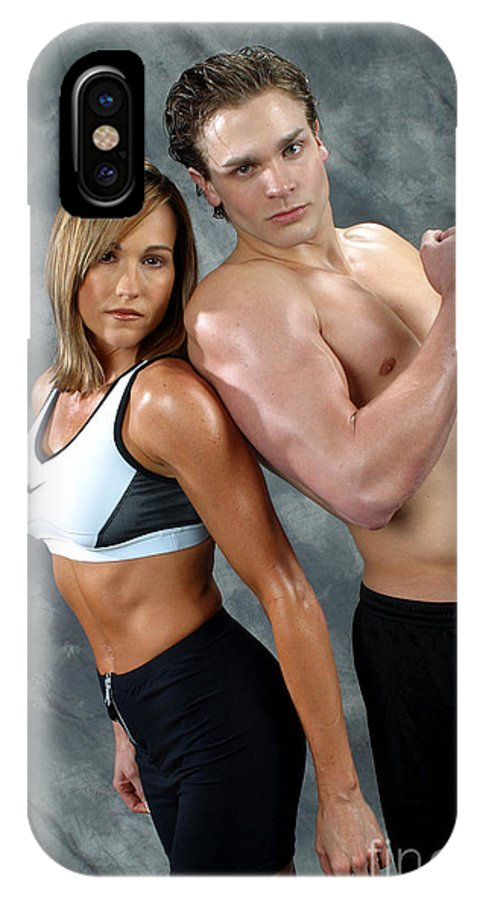 Model IPhone X Case featuring the photograph Fitness Couple 43 by Gary Gingrich Galleries