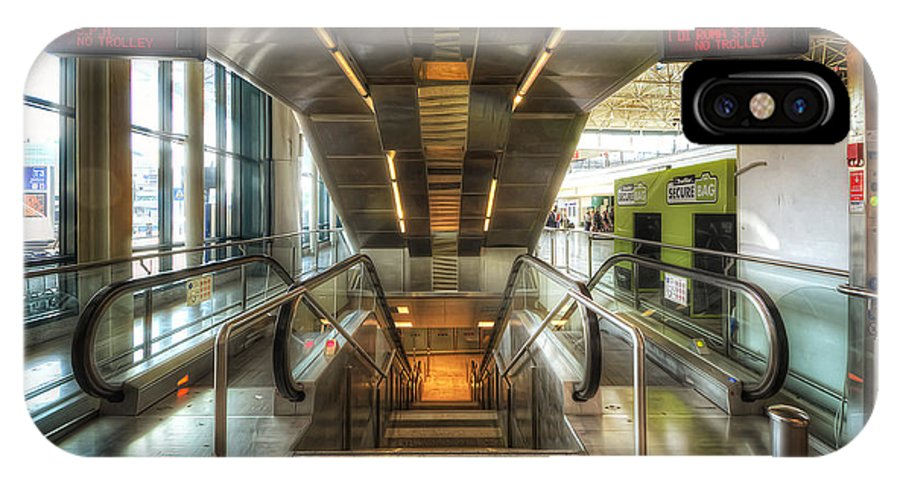 Yhun Suarez IPhone X Case featuring the photograph Fiumicino Airport Escalator by Yhun Suarez