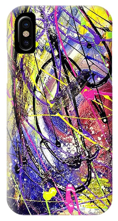 Fixation IPhone X Case featuring the painting Fixation II by Patti Shonek