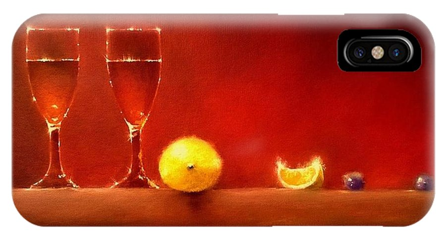 Still Life IPhone X / XS Case featuring the painting Fizz by Tony Gittins