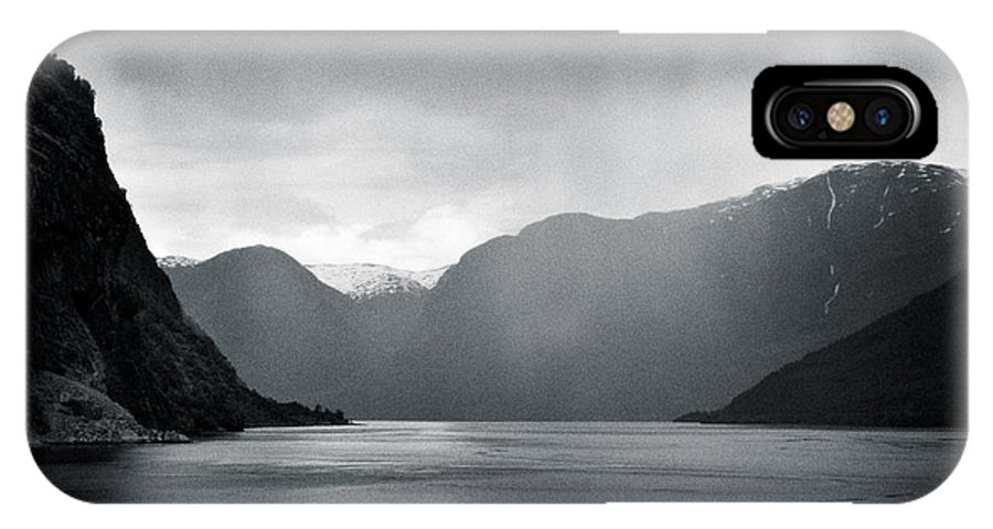 Norway IPhone X Case featuring the photograph Fjord Rain by Dave Bowman