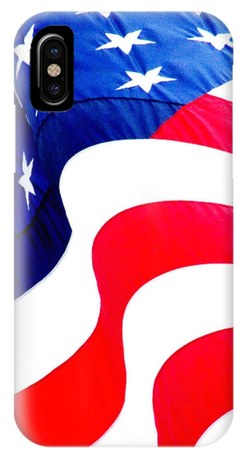Ron Tackett IPhone X Case featuring the photograph Flag Unfurl by Ron Tackett