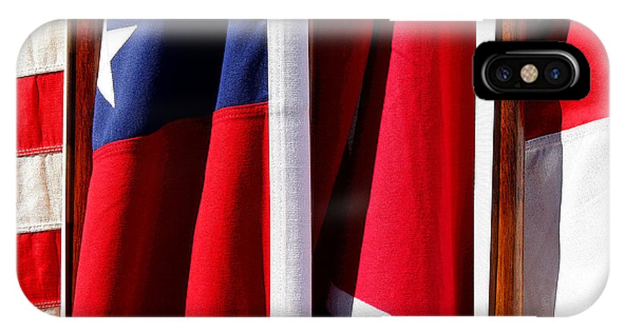 Flag IPhone X Case featuring the photograph Flags Of The North And South by Joe Kozlowski