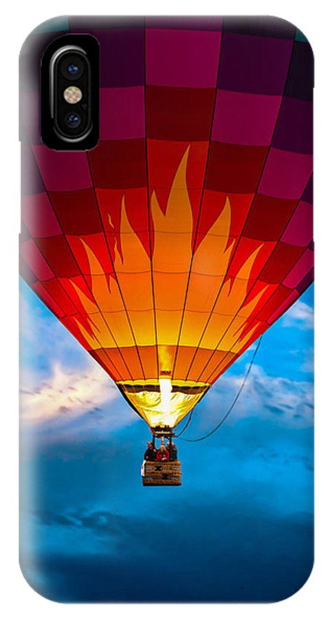 Hot Air Balloon IPhone X / XS Case featuring the photograph Flame With Flame by Bob Orsillo