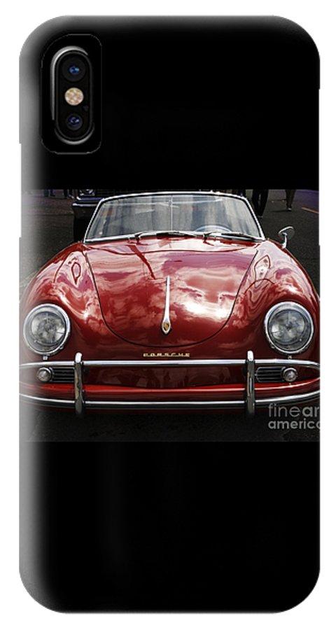 Porsche IPhone X Case featuring the photograph Flaming Red Porsche by Victoria Harrington