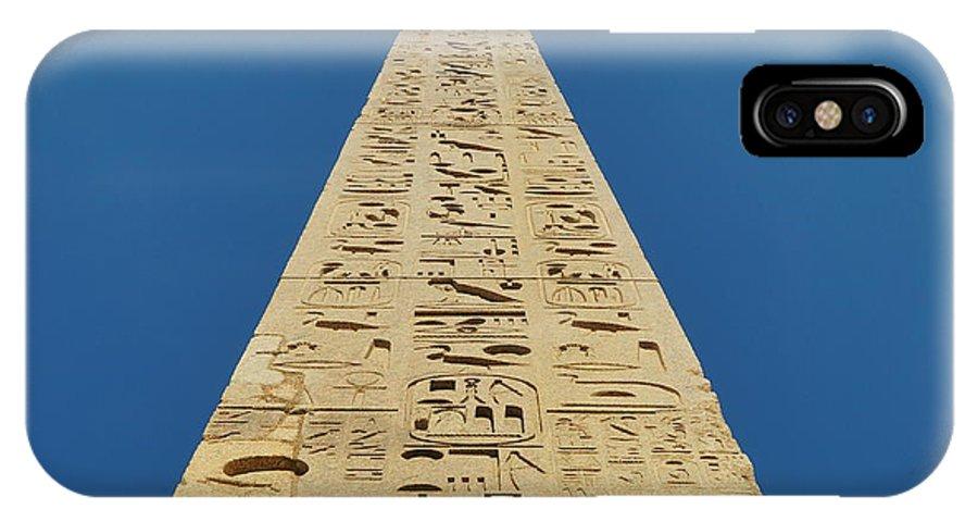 Flaminio Obelisk In Piazza Del Popolo Square Rome IPhone X Case featuring the photograph Flaminio Obelisk by Dan Stumpf