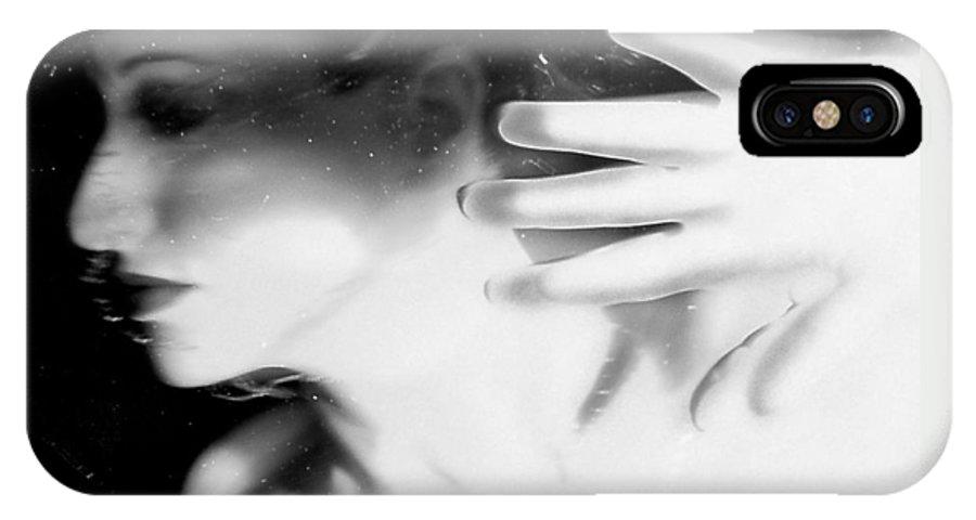 Angst IPhone X Case featuring the photograph Flash Across My Soul - Self Portrait by Jaeda DeWalt