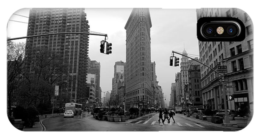 New York IPhone X Case featuring the photograph Flatiron Building by Dustin LeFevre