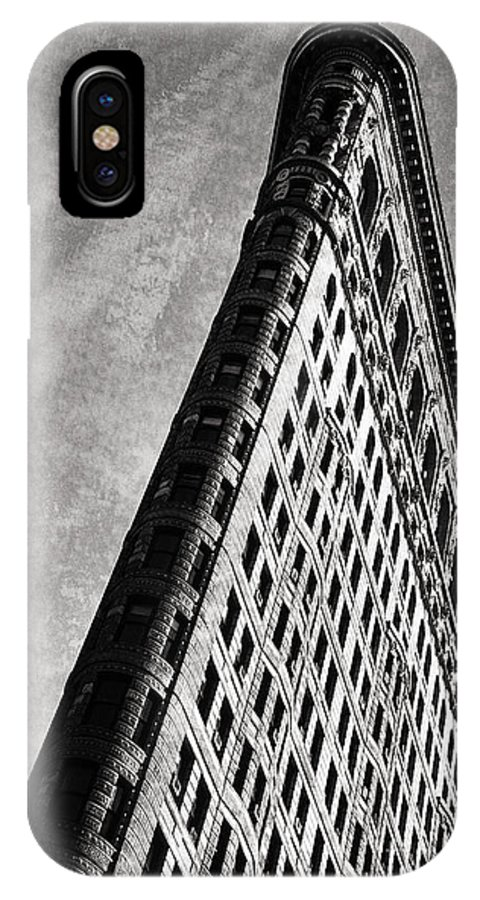 New York IPhone X Case featuring the photograph Flatiron II by Bruce Bain