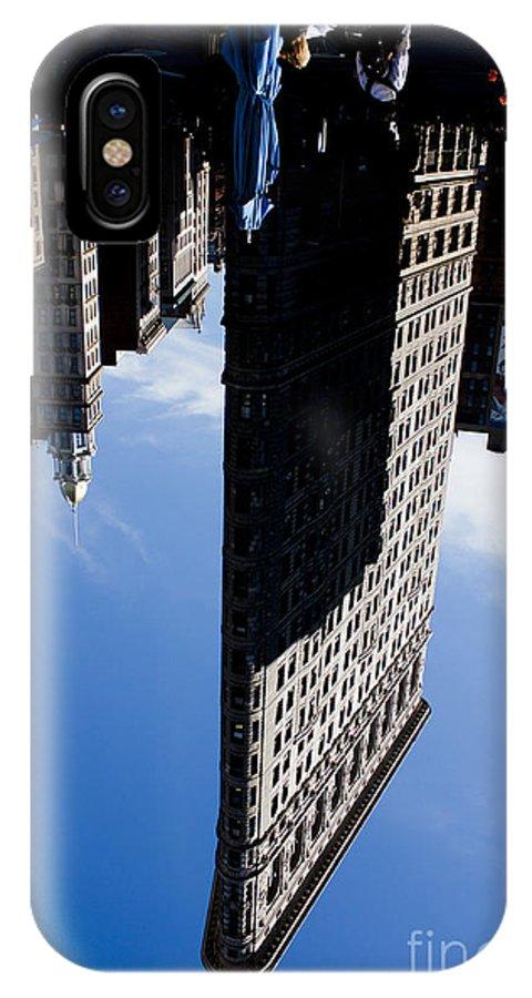 Flatiron IPhone X / XS Case featuring the photograph Flatiron Perspective by David Bearden