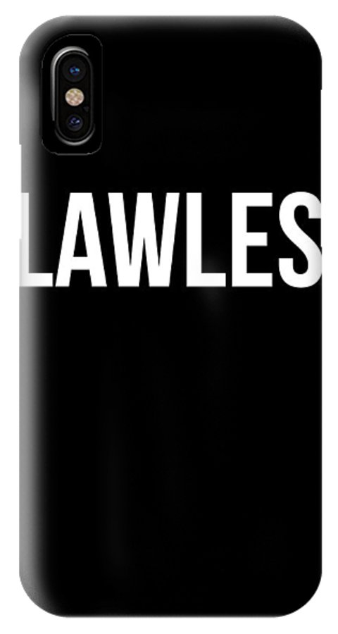 Motivational IPhone X Case featuring the digital art Flawless Poster by Naxart Studio