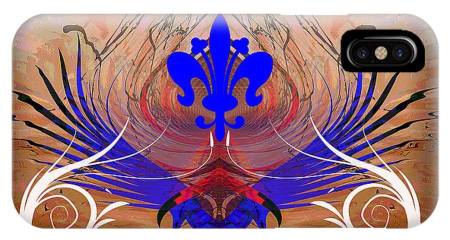 Fleur IPhone X Case featuring the digital art Fleur De Lis by Michael Damiani