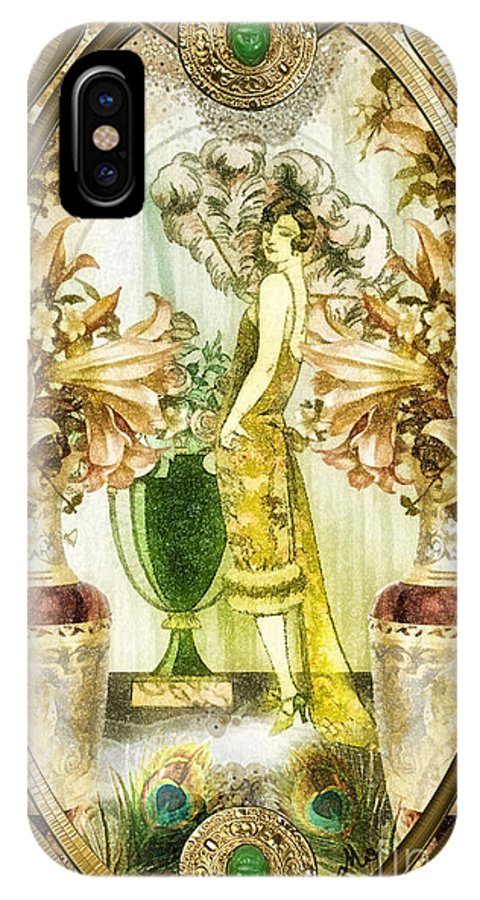 Fleurdelys.lilly IPhone X Case featuring the painting Fleurdelys by Mo T