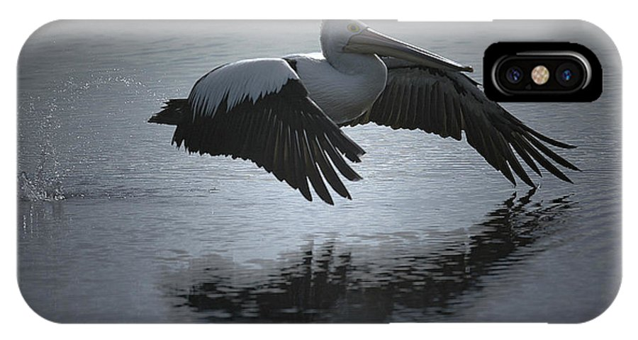 Pelican IPhone X Case featuring the photograph Flight by Kitchner Bain