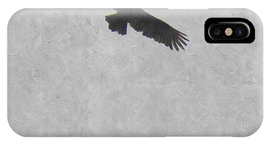 Buzzard IPhone X Case featuring the photograph Flight Of The Buzzard by Annie Adkins