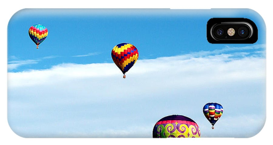Balloon IPhone X Case featuring the photograph Floating Above The Clouds by George Jones