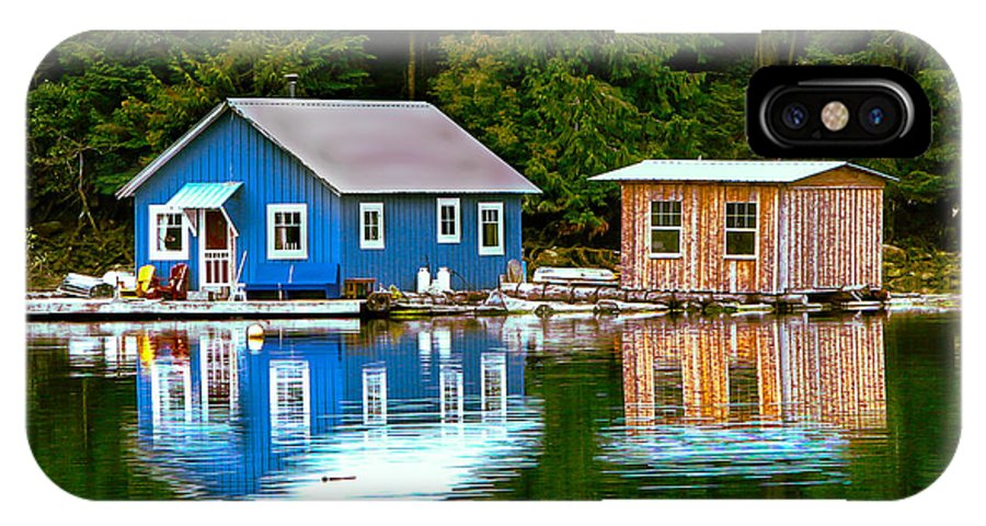 Floating IPhone X Case featuring the photograph Floating Cabin by Robert Bales