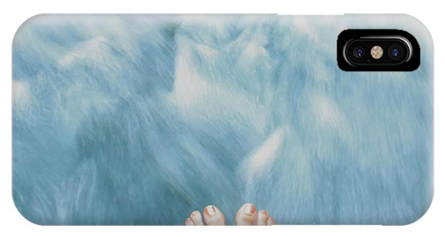 Feet IPhone X Case featuring the photograph Floating Feet by Erendira Hernandez