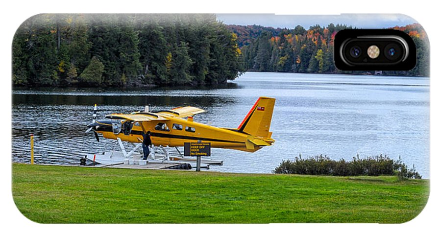 Airplane IPhone X Case featuring the photograph Floatplane In Fall by Les Palenik