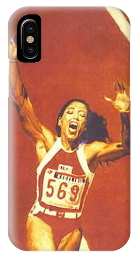Track And Field IPhone X Case featuring the painting Flojo by Cameron James