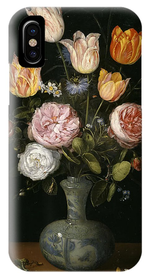 Jan Brueghel The Elder IPhone X Case featuring the painting Floral Still Life by Jan Brueghel The Elder