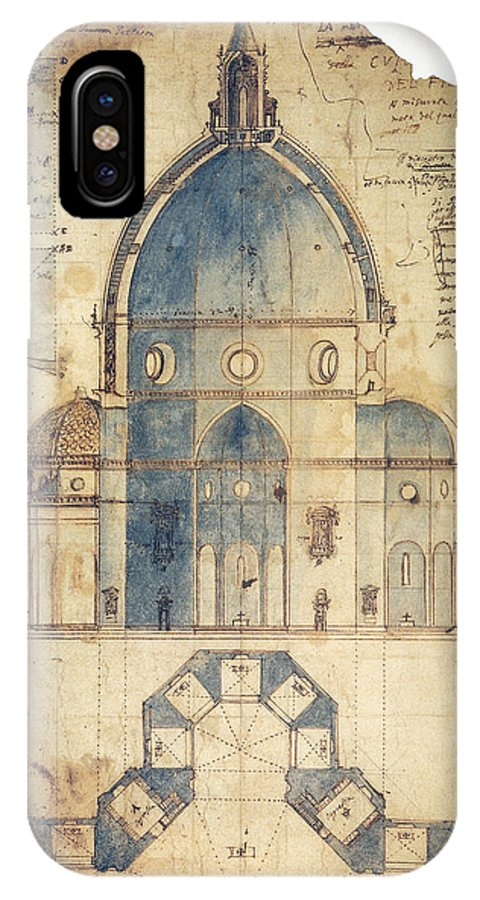 15th Century IPhone X Case featuring the photograph Florence: Brunelleschi by Granger